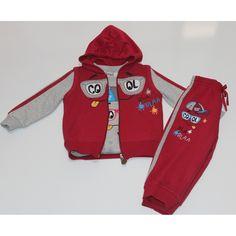 Erkek Çocuk Esprili Polarlı 3 Lü Takım 1-2-3- Yaş - n11.com