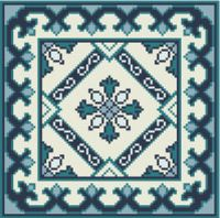 "Gallery.ru / azteca - Альбом ""Blue Tile Carpet and Pillow"""