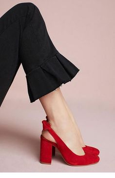 0bc9f74f11 Black pants and red shoes Shoes Fashion Creativity Black and red Classy  Elegant Cool Trendy
