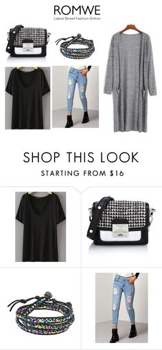 """""""items"""" by gggg325 ❤ liked on Polyvore featuring Karl Lagerfeld, AeraVida and romwe"""