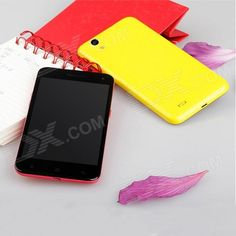 """M Pai 809T MTK6592 Octa-Core Android 4.3.0 WCDMA Bar Phone w/ 5.0"""" OGS FHD, Wi-Fi, OTG, GPS - Yellow"""