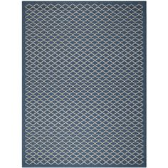 Safavieh Indoor/Outdoor Courtyard Navy/Beige Area Rug (9' x 12') - Overstock™ Shopping - Great Deals on Safavieh 7x9 - 10x14 Rugs