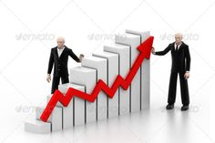 Business people with a growth graph ...  3d, background, business, business chart, cartoon, character, colourful graph, concept, corporate, development, executive, graph, grow, growing, growth, guy, human, increase, isolated, male, man, people, person, professional, recovery, render, rendered, rise, scale, success, successful, three-dimensional, up, white, work