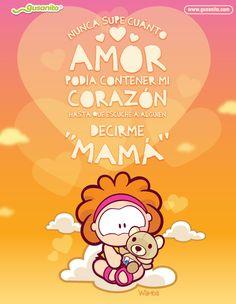 Amar a un hijo | Postales y tarjetas de Familia, tarjetas_fijas, amar, hijo, wamba, | Gusanito.com