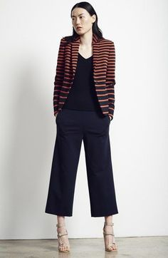 Akris punto Blazer, Top & Culottes available at #Nordstrom