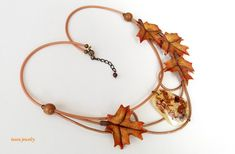 Maple Fall Necklace Fall Leaf Necklace Gift For Her Fall Accessories Autum Jewelry Boho Necklace Nature Jewelry