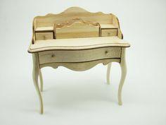Miniature dollhouse unfinished desk - code. VMJ1506 by viliaminiature on Etsy https://www.etsy.com/listing/261240105/miniature-dollhouse-unfinished-desk-code
