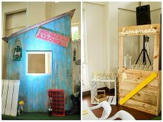 Caleb's The Little Rascals Themed Party - Stage Decor