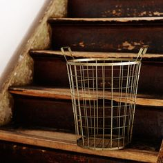 Two Wire Baskets In Antique Copper