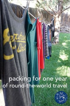 Packing for one year of round-the-world travel  (don't know if I'll ever do a year of traveling, but good packing tips nonetheless,)