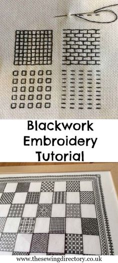 Cool Embroidery Projects for Teens - Step by Step Embroidery Tutorials - Blackwork Embroidery Tutorial - Awesome Embroidery Projects for Teenagers - Cool Embroidery Crafts for Girls - Creative Embroidery Designs - Best Embroidery Wall Art, Room Decor - Gr Motifs Blackwork, Blackwork Embroidery, Hand Embroidery Stitches, Embroidery Techniques, Ribbon Embroidery, Cross Stitch Embroidery, Machine Embroidery, Embroidery Thread, Hand Stitching