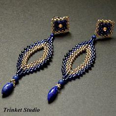 #Earrings, #TrinketStudio, #Beading, #Swarovski