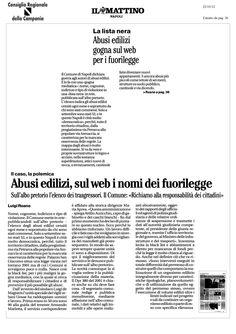 abusi edilizi: il-comune di Napoli li pubblica sul web