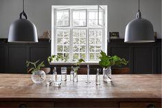 normann copenhagen bell lamp in dining room