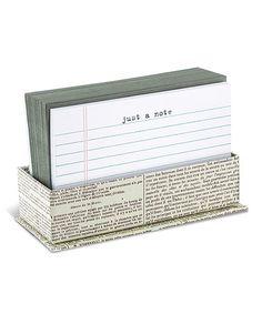 Look what I found on #zulily! 'Just a Note' Notecard & Envelope Set #zulilyfinds
