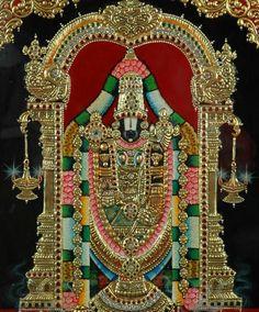 Lord Sri Venkateswara Swamy: Lord Sri Venkateswara Says Mural Painting, Wonder Art, Painting, Traditional Paintings, Encouraging Art, Indian Painting, Tanjore Painting, Krishna Painting, Mysore Painting
