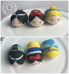 Tsum tsum topper- princess tsum tsum toppers for cakes (Jasmine, Snow White, Cinderella)