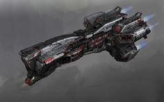 ArtStation - Battle Ship concept art for Reboant VR game, Galan Pang Space Ship Concept Art, Concept Ships, Star Wars Spaceships, Sci Fi Spaceships, Spaceship Art, Spaceship Design, Stargate, Nave Star Wars, Starship Concept
