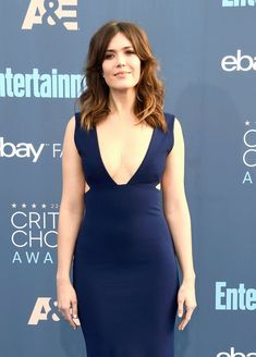 Mandy Moore in Solace London Gown at 22nd Annual Critics' Choice Awards