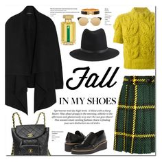 """Fall in my shoes"" by stellaasteria ❤ liked on Polyvore featuring mode, Alexander McQueen, L'Artisan Parfumeur, Miu Miu, Chanel, Y's by Yohji Yamamoto, Maison Margiela, Linda Farrow, H&M en rag & bone"
