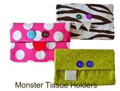 PDF Sewing Patterns - E-reader Cover Patterns: iPad, Kindle, Nook. Little Girls Clothing Patterns.: Free PDF Tutorial Angry Bird and Monster Tissue Holder
