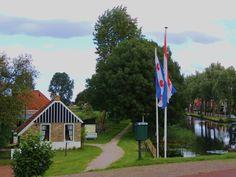 De entree van het openlucht museum Het Damhûs Nin Beets. Trieland The Neterlands