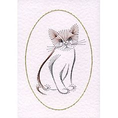 Kitten | Animals and Birds patterns at Stitching Cards.