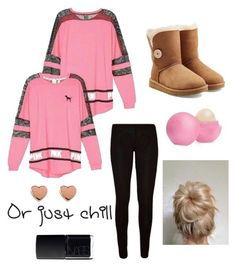 """Cute Tween/Teen Outfit!!"" by sparklecat102 on Polyvore featuring Victoria's Secret, UGG Australia, NARS Cosmetics, Eos and Ted Baker"