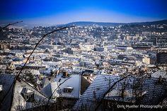 Snow-Covered Stuttgart-West