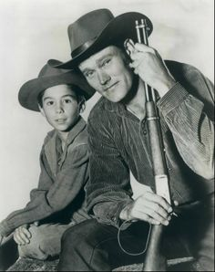 Chuck Connors Johnny Crawford The Rifleman 1960. One of my favorite shows.
