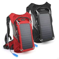 Ivation 7 W Solar Charging Panel, 1.8L Hydration Backpack/Bladder Bag w/Flexible Drinking Pipe, 10,000 mAh Waterproof Power bank - Removable Sun powered 7W/6V Solar Panel Recharges the Emergency Portable Backup Battery while Biking, Hiking, Camping, or any Outdoor Sports - Features Dual Smart Phone/Tablet Charging Ports & Pockets, http://www.amazon.com/dp/B00VIK23MO/ref=cm_sw_r_pi_awdm_F-C0wb0K9T2CC