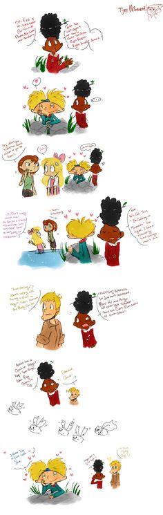 ' - Hey Arnold by Koizumi-Marichan on DeviantArt Cartoon Jokes, 90s Cartoons, Cartoon Fan, Hey Arnold Movie, Detective, Arnold And Helga, Leonardo Dicaprio 90s, Kevedd, Dc Anime