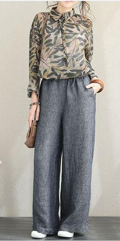Biba Poche à Rayures Pyjama Set femmes pleine longueur manches Taille élastique