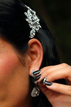 Black wedding nails