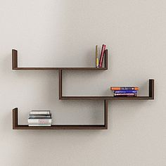 Tibet Wall Shelves Matt Wenge, 90€, now featured on Fab.