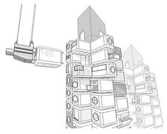nakagin capsule tower plan - Google Search