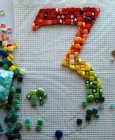 Work in Progress by laurainspain (love the marbles turned on their sides, brilliant)