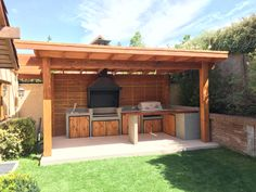Patio Gazebo, Backyard Patio Designs, Outdoor Pergola, Backyard Bbq, Small Outdoor Kitchens, Outdoor Kitchen Patio, Outdoor Kitchen Design, Garden Bbq Ideas, Grange Restaurant