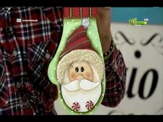 Espazio ideal 29 Septiembre 2016 Christmas Ornaments, Holiday Decor, Youtube, Home Decor, Art, Christmas Wood, Christmas Decor, Painting Videos, Craft Videos