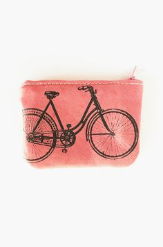 Bicycle Zip Wallet in Rose Petal Pink