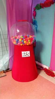 Giant gumball machine!