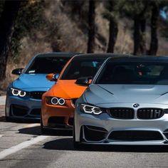 BMW F82 M4 grey blue E92 M3 orange