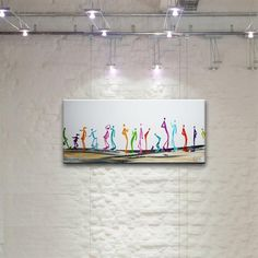 Acrylmalerei - FAMILY DAY Gemälde Bild Leute Hund Menschen - ein Designerstück von acryliks bei DaWanda
