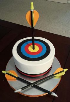 Looking for cake decorating project inspiration? Check out Archery Target Cake by member Janci76. - via @Craftsy