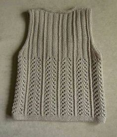 This Pin was discovered by Nez Pullover Design, Sweater Design, Lace Knitting Patterns, Knitting Stitches, Crochet Baby Jacket, Embroidery Suits Punjabi, Knit Vest Pattern, How To Purl Knit, Easy Knitting