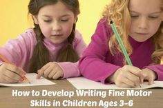 How to Develop Writing Fine Motor Skills in Children Ages 3-6 Our latest blog post contains simple activities that can be easily added to your early childhood program that will help develop the appropriate muscle groups needed for successful handwriting. https://oblockbooksblog.wordpress.com/2015/05/07/how-to-develop-writing-fine-motor-skills-in-children-ages-3-6/