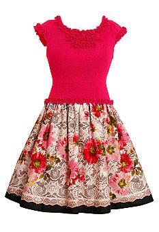Bonnie Jean® Floral Drop Waist Dress Toddler Girls
