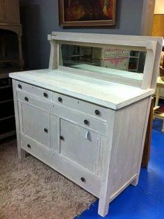 SOLD  Antique hutch / buffet / sideboard by SweetFindVintage, $295.00