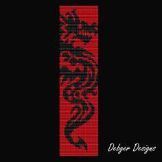 Dragon- Loom Bracelet Cuff Pattern