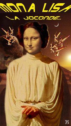 Joconde Mona Lisa - Princesse Lisa - Star Wars